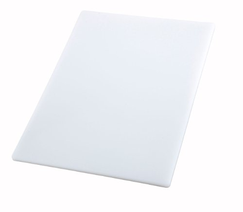 Winco Cutting Board, 18 by 24 by 1/2-Inch, White