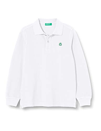 United Colors of Benetton 3F31C3134 Polo, Bianco 101, M Bambino