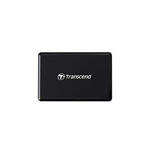 Transcend USB 3.1 Gen 1 kompakter schwarzer Multifunktionskartenleser für UHS-I & UHS-II SD-, microSD- und CompactFlash (CF) Speicherkarten TS-RDF9K2