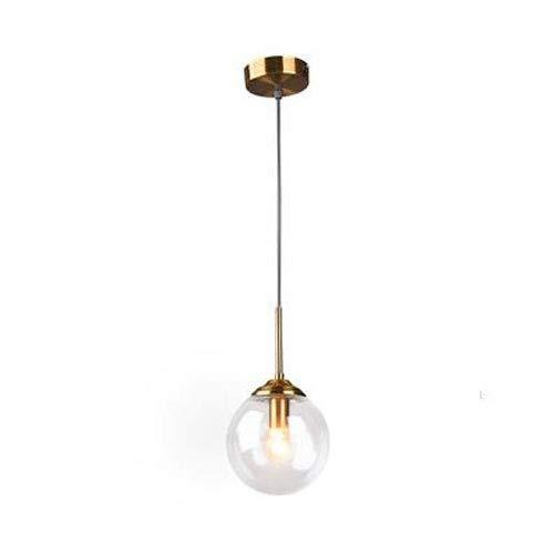 HJW Decorative Lighting Modern Simple Glass Lantern Chandelier Light Art Pendant Lamps Nordic Creative Interior Decorative Ceiling Illumination Fixtures Restaurant Bar Kitchen Island Decorative Hang