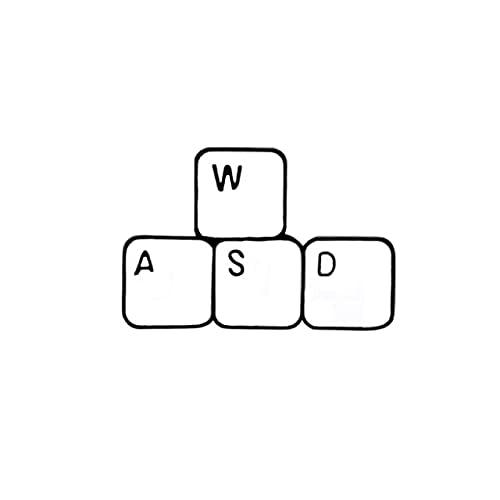 Broche de clavier de gaming en émail avec inscription humoristique en anglais « Game »