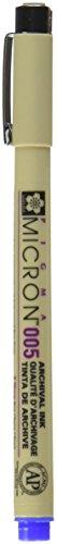 SAKURA COLOR PROD AMERICA Micron Pen, Waterproof, Fade Resistant, 0.20mm Point, Blue (SAKXSDK00536)