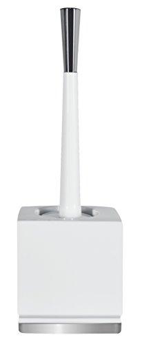 Spirella Roma WC Bürste Toilettenbürste Klobürste WC Garnitur aus Porzellan Weiß/Silber