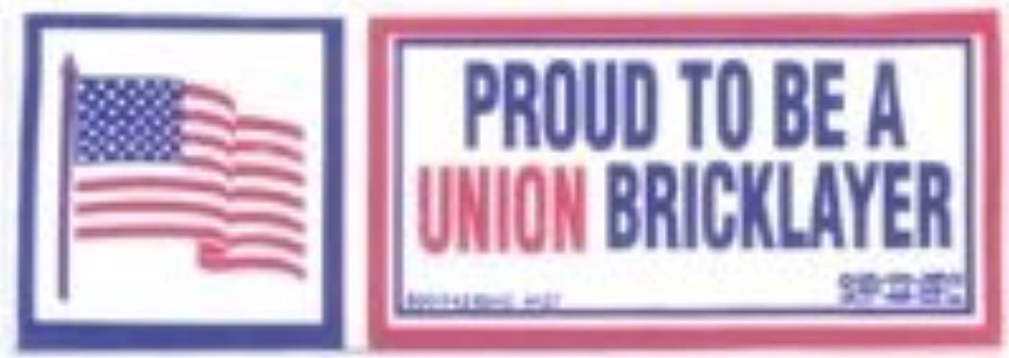 10 Proud to Be Union Bricklayer Hardhat Stickers T-22