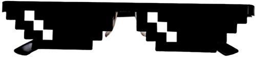 MaoDaAiMaoYi Mosaik Sunglasses Sonnenbrille Sie Sich Mit Mode Living 8 Bit Pixel Unisex Sonnenbrille Spielzeug Stil Mlg Schattierungen (Color : Colour, Size : 3 Pack)