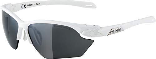ALPINA TWIST FIVE HR S CM+ Sportbrille, Unisex– Erwachsene, white matt-silver, one size