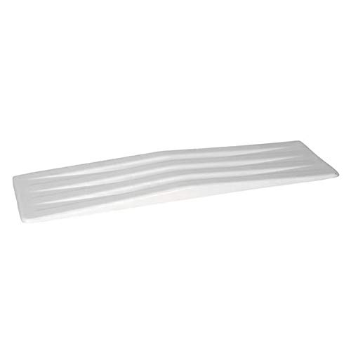 Molded Transfer Slide Board, Wheelchair Transfer Board, Medical Patient Aid for Limited Mobility & Recovery, White
