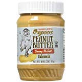 TRADER JOE'S ORGANIC Peanut Butter Creamy Unsalted Valencia 1 lb (CASE OF 2)