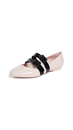 melissa Women's x Vivienne Westwood Doll Flats, Pink/Black, 9 Medium US