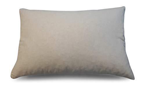 iffland MERINO EUROPA Latexkissen mit Naturlatexflocken im Bezug aus 100% Baumwolle (40 x 80cm)