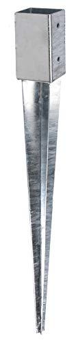 GAH-Alberts 208288 Einschlag-Bodenhülse | für Rund- oder Vierkantholzpfosten | feuerverzinkt | 61 x 61 mm | Gesamtlänge 750 mm
