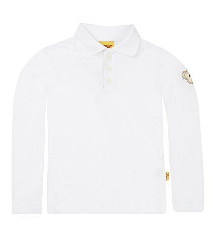 Steiff Steiff Unisex Baby 6864 Poloshirt, Weiß (Bright White 1000), 18-24 Monate (Herstellergröße: 86)