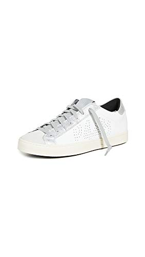 John P448 Sneaker, Leder, knöchelhoch, Weiß, Weiá (Weiß/Delhisil), 39 EU