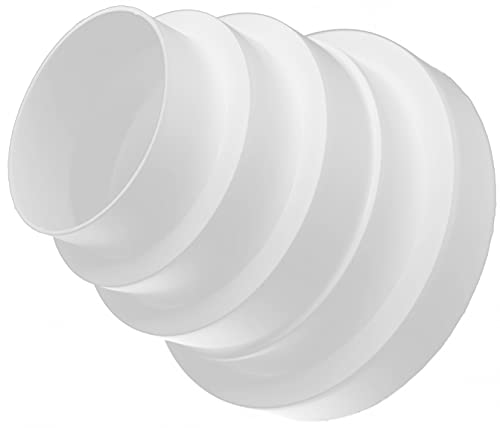 Riduttore universale per canali di ventilazione in PVC, diametro 80, 100, 120, 125, 150 mm, elemento di sistema di aria circolare in più dimensioni
