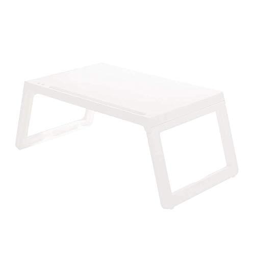 Zusammenklappbarer, kleiner, quadratischer Tisch, leicht, mit Tablet-Steckplatz, tragbares Ladeloch, Stiftloch