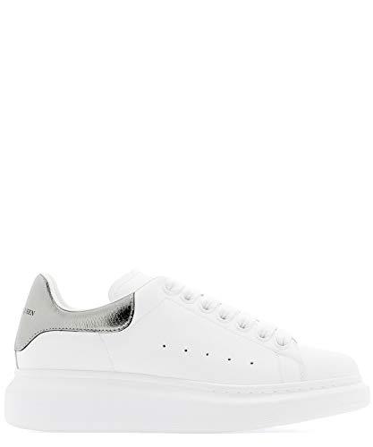 Alexander McQueen Luxury Fashion Damen 553770WHFBU9042 Weiss Leder Sneakers | Jahreszeit Permanent