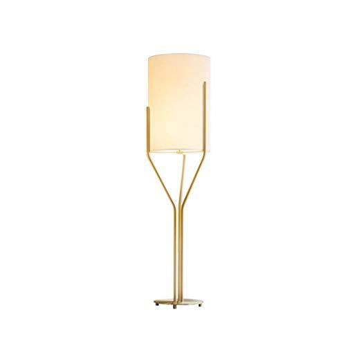 Moderne Floor Lamp-LED-verlichting Lamp for woonkamer en slaapkamer-huis Creative Simple Staande Lamp met Linnen Kap DZE (Color : Gold, Size : 30cm*120cm)