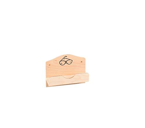 Eliga Brillenhalter für Sauna aus Schichtholz mit Bildmotiv