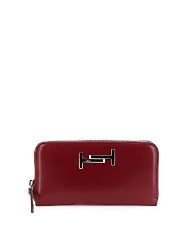 Tod's Luxury Fashion Damen XAWAMEA0400M736Q61 Rot Leder Brieftaschen | Herbst Winter 19