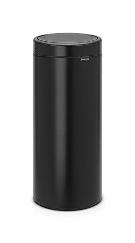 Brabantia - 115301 - Poubelle Touch Bin Unie New, 30 L - Noir mat