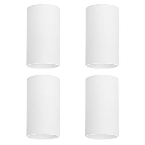 Klighten 4 Pcs Foco de Techo Blanco GU10, Focos superficie de Aluminio...