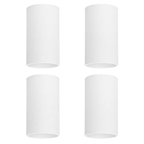 Klighten 4 Pcs Foco de Techo Blanco GU10, Focos superficie de Aluminio Plafón Focos Redonda Moderna Lampara Focos Techo para...