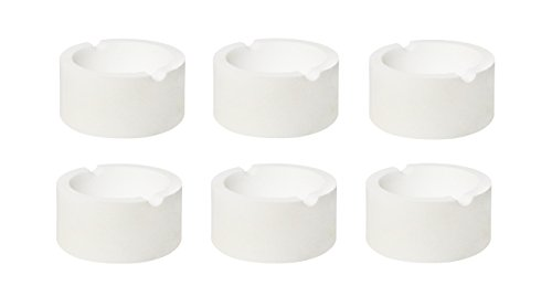 Set of 6' 3' 7 oz Ceramic Silica Crucible Dish Cups for Gold Silver Bronze Copper Brass Melting Refining Casting Kit