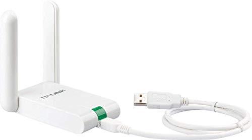 TP-Link TL-WN822N High Gain WLAN Adapter V4 (bis zu 300Mbit/s, WPS, Externe High-Gain-Antenne, mit USB-Verlängerungskabel, unterstützt Windows 10/8.x/7/XP, Mac OS 10.9~10.13, Raspberry Pi) weiß