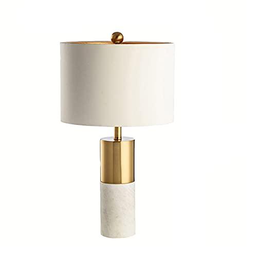 Lámparas de mesa Lámparas De Mesa De Mármol, Lámparass De Simplicidad Modernas Sala De Estar De Sala De Viviendas. Lámparass De Iluminación Domésticas Y Comerciales Lámpa(Size:36*36*65cm,Color:blanco)