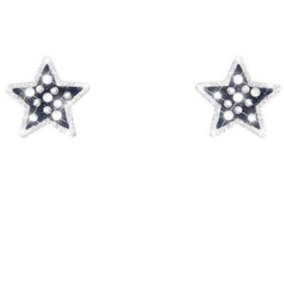 Stroili - Orecchini stella in ottone rodiato, cristalli e glitter per Donna - Bling Bling Denim