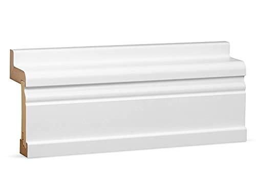 KGM Heizrohrverkleidung – Weiß folierter Heizrohradapter für Hamburger/Altberliner Sockelleisten – Länge: 2500 mm – 1 Stück