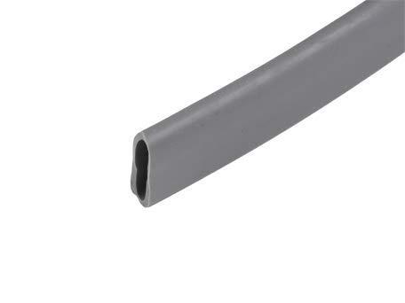 Fugenschlauchdichtung Fugenband Dichtung für WPC Terrassendielen - oval flach (steingrau)