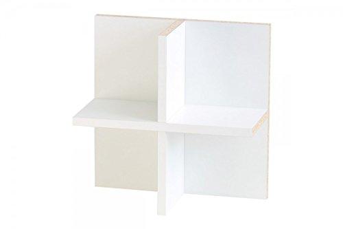 New Swedish Design IKEA Kallax Expedit Regal CD Einsatz Regalkreuz Fach Fachteiler für 60 CDs Rückwand gegen Durchrutschen CD-Regal CD-Storage Aufbewahrung Regaleinsatz 33,5 x 33,5 x 16 cm weiß