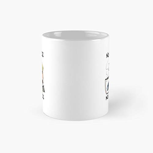 Chibi Cloud No Coffee Workee Final Fantasy 7 Strife Classic Mug | Best Gift Funny Mugs 11 Oz