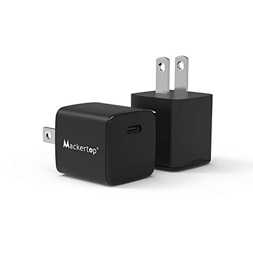 【2個セット】Mackertop PD 20W USB-C 充電器 Type C 急速充電器【PSE認証済/Power Delivery 3.0/超小型/軽量】ACアダプター スマホ充電器 iPhone 12/ 12 Mini/ 12 Pro/ 11/ XS/XR、iPad Pro/Air, Androidなど各種機器対応