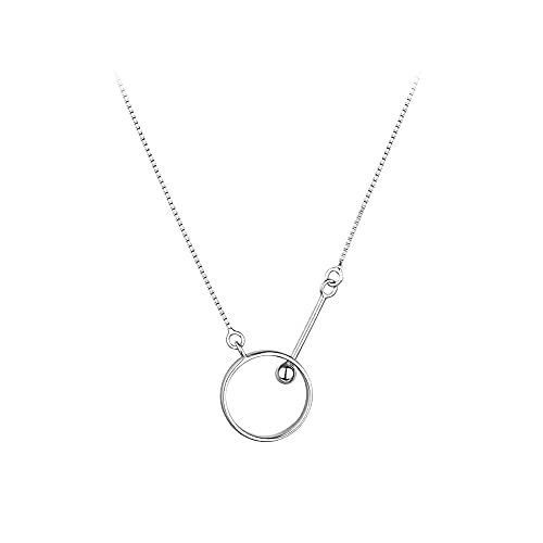 Sxcespp Collar con Colgante de Plata de Ley 925, Colgante de joyería de Lujo Ligero, exquisitos Accesorios de joyería de Cadena de clavícula de Plata, Damas
