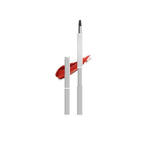 Jieqiong Les brosses de Maquillage voyagent avec des Outils de Maquillage multifonctionnels télescopiques à Double tête avec des couvercles,Argent