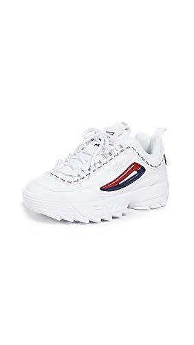 Fila - Scarpe da ginnastica da donna Disruptor 2 Premium Repeat, basse alla caviglia, Bianco (bianco/blu marino/rosso), 39 EU
