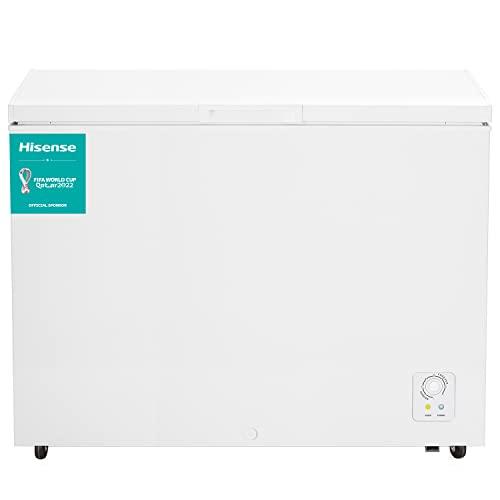Hisense FT403D4AW1 - Arcón Congelador Horizontal, Eficiente, 306 L Capacidad Neta, 83 cm Alto, Función Dual Convertible en Modo Frigorífico, Cesta con Asa, Bajo nivel sonoro, Color Blanco