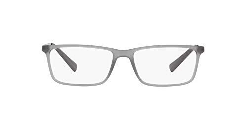 AX Armani Exchange Armação masculina retangular para óculos Ax3027, Matte Opal Grey/Demo Lens, 55 mm