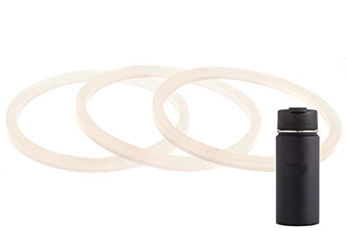 3-Pack of Hydro Flask-Compatible Wide Mouth Lid Gaskets / Seals /...