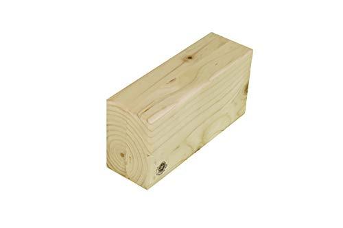 TARA YOGAPROPS Bloque de madera para yoga, regular, barnizado, medidas originales de Iyengar yoga, accesorios de yoga, 8 x 24 x 12 cm, bloque versátil, madera de pino