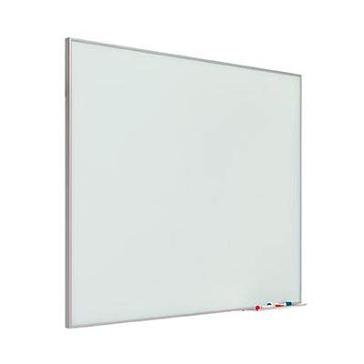 Pizarra de vidrio mural magnética con marco aluminio 100x175 cm