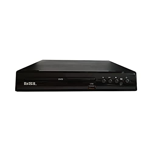 Reproductor de DVD BSL-3507V0 | con Puerto USB para Reproducir Archivos Multimedia | Entrada Scart-Euroconector | Salidas RCA de Audio y vídeo | Mando a Distancia