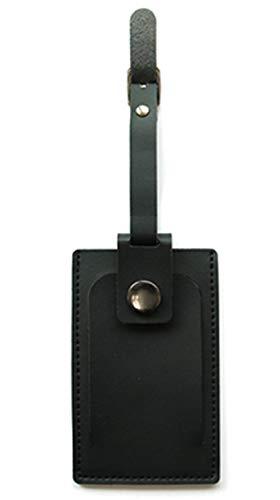 バンガード 旅行用品 ネームタグ スーツケースタグ おしゃれ 革 型押し フェイク レザー ブラック