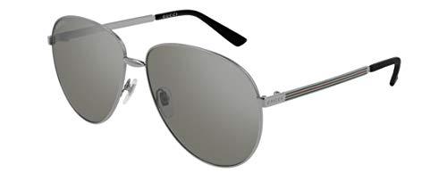 Gucci Unisex – Erwachsene GG0138S-009-61 Sonnenbrille, Ruthenium, 61