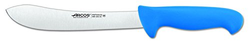 Arcos Serie 2900, Cuchillo Carnicero, Hoja de Acero Inoxidable Nitrum de 200 mm, Mango inyectado en Polipropileno Color Azul