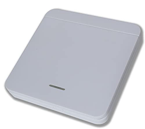 Funk-Innentaster kompatibel zu Tormatic Novoferm 433 MHz - Taster - Drucktaster - Wandtaster für Garagentorantrieb Black Run Novomatic mit Sender 502 522 MAX43-2