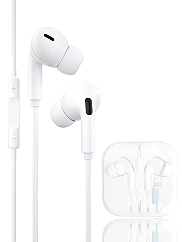 Auriculares Cascos para iPhone,con Cable con Micrófono y Control de Volumen,Auriculares emparejados con reducción de Ruido,compatibles Cascos con iPhone SE/7/8 Plus/11/11 Pro/12/12Pro/XS/X/XR