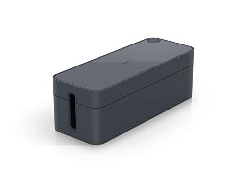 Durable 503037 - Cavoline Box L, Scatola Nascondi Cavi, Per Multi Presa Da 5 Entrate, 406 x 139 x 156 mm, Grigio (Grafite)